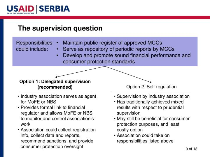 The supervision question