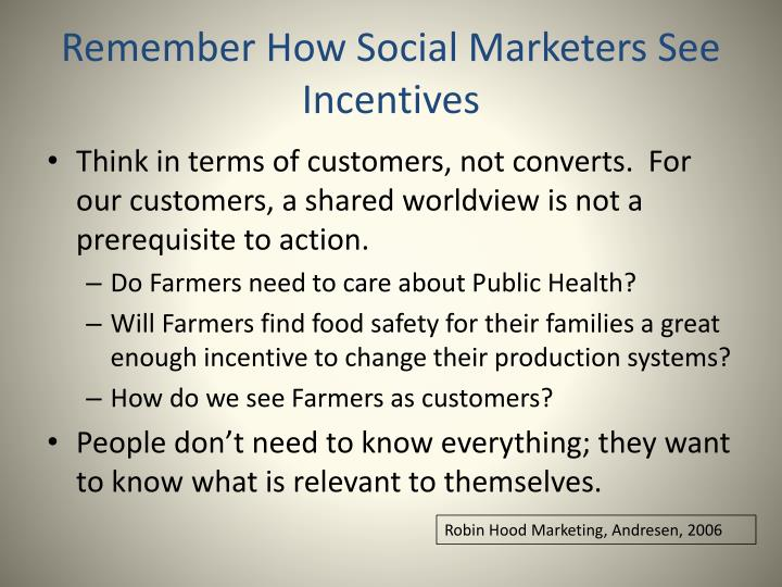 Remember How Social Marketers See Incentives