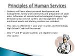 principles of human services
