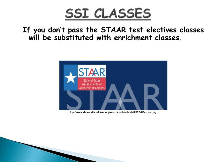 SSI CLASSES
