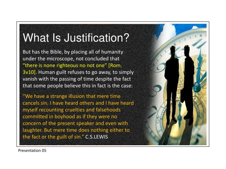 What Is Justification?
