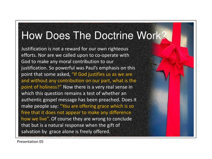 How Does The Doctrine Work?