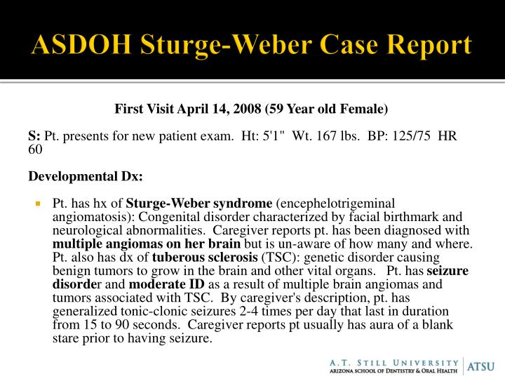 ASDOH Sturge-Weber Case Report