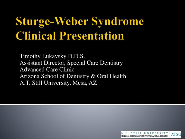 Sturge weber syndrome clinical presentation