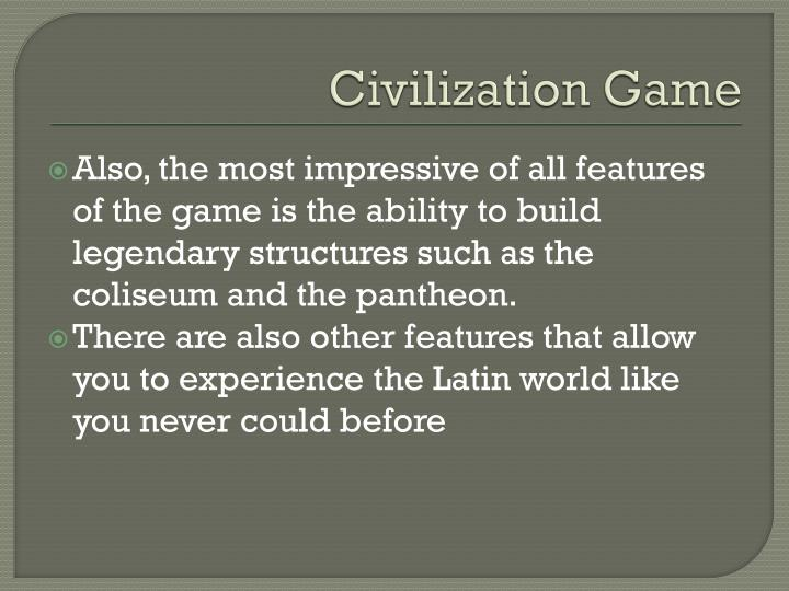 Civilization Game