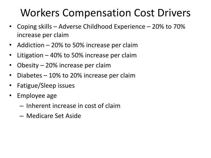 Workers Compensation Cost Drivers