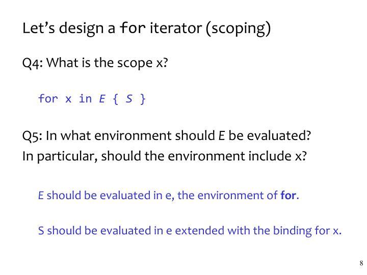 Let's design a
