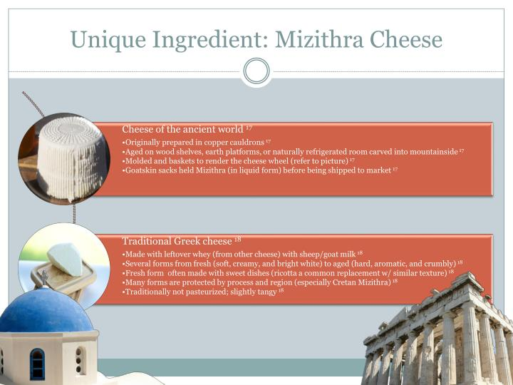 Unique Ingredient: Mizithra Cheese