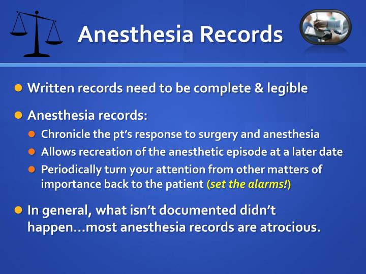 Anesthesia Records
