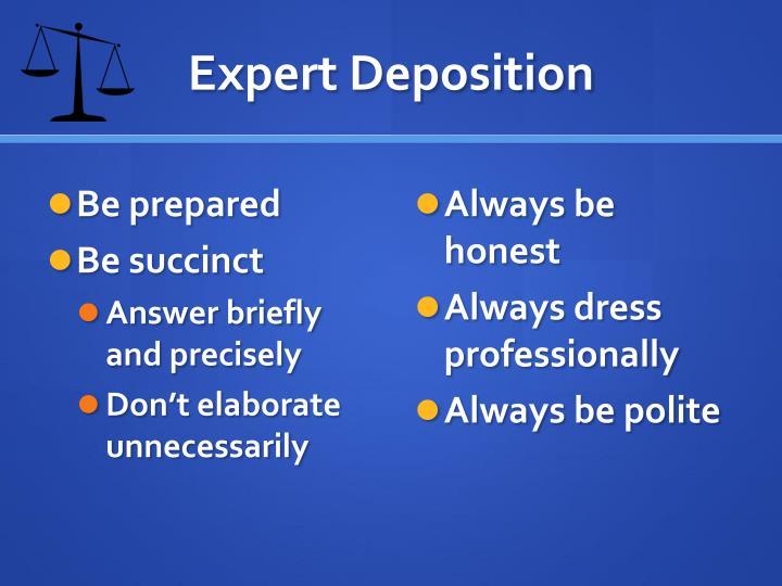 Expert Deposition