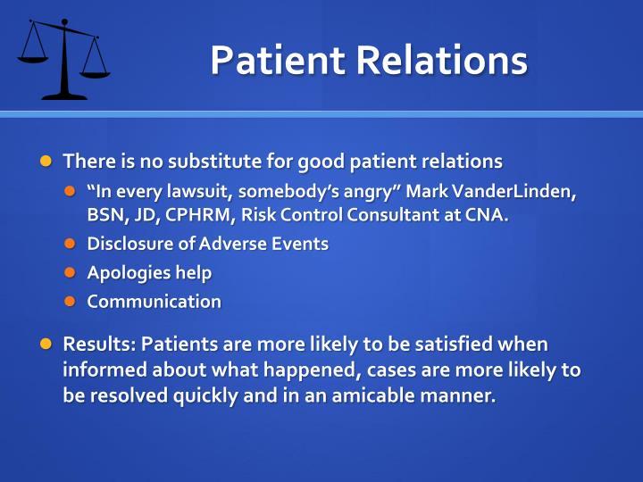 Patient Relations
