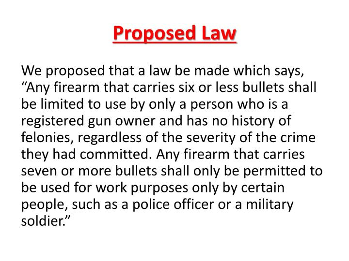 Proposed law