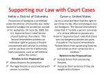 supporting our law with court cases