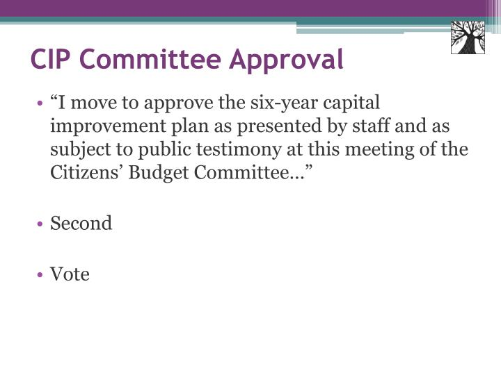 CIP Committee Approval