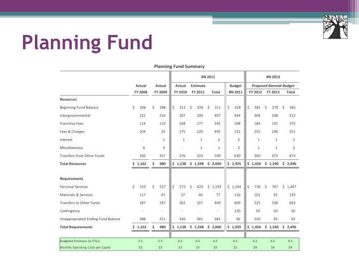 Planning Fund