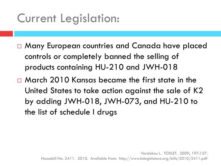 Current Legislation: