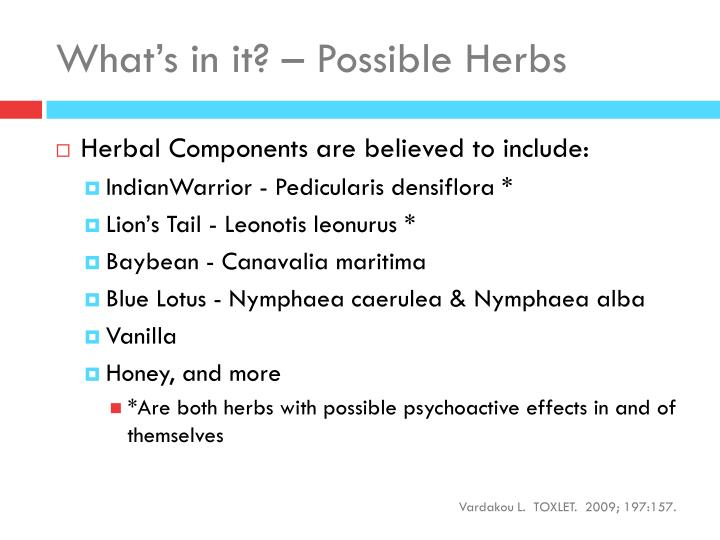 What's in it? – Possible Herbs