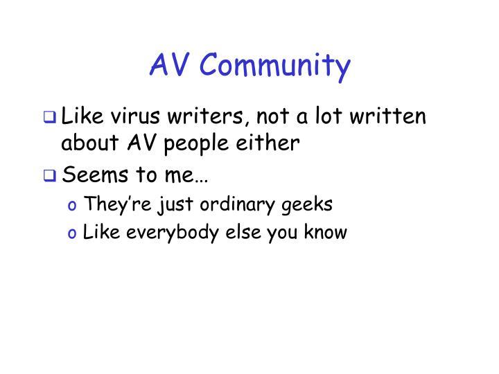 AV Community