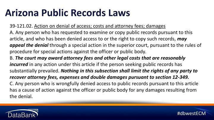 Arizona Public Records Laws