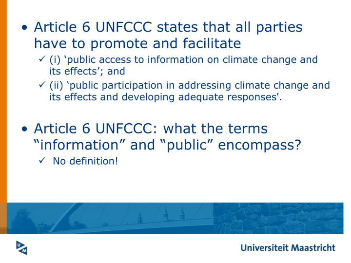 Article 6 UNFCCC