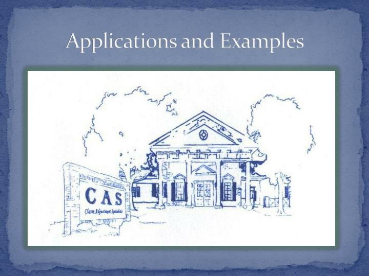 Applications and Examples