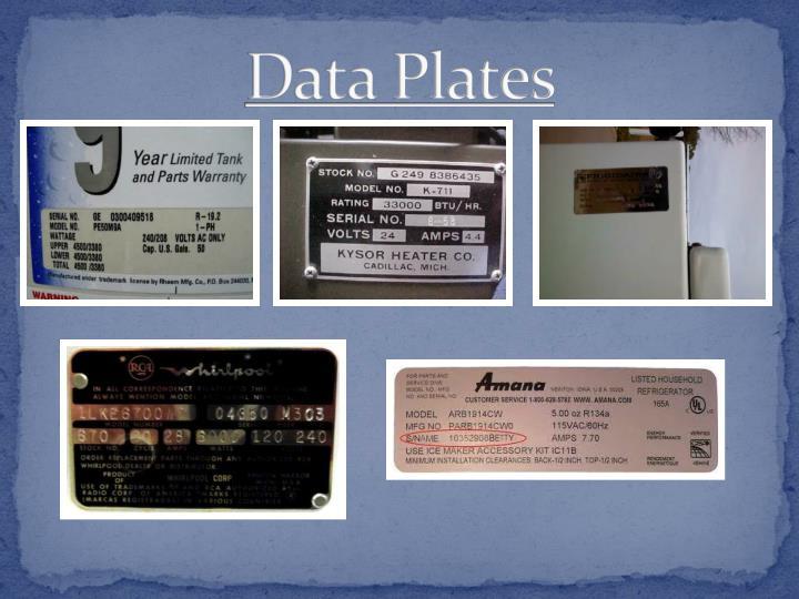 Data Plates