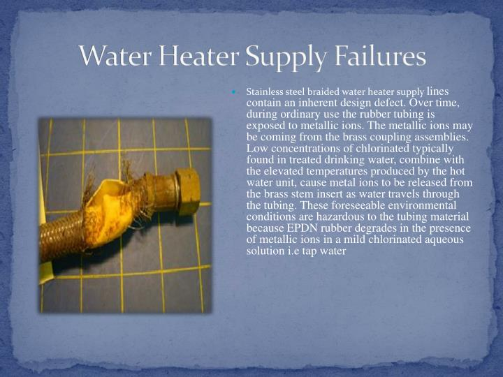 Water Heater Supply Failures