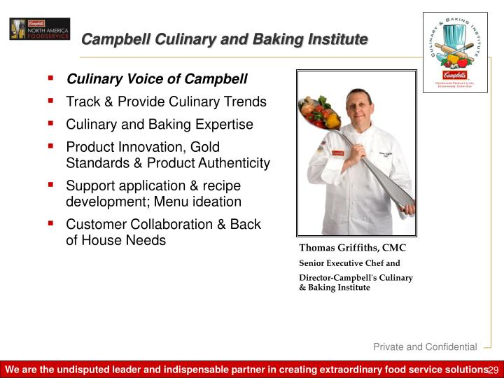 Campbell Culinary and Baking Institute