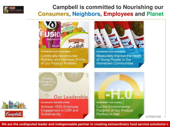 Campbell is committed to Nourishing our