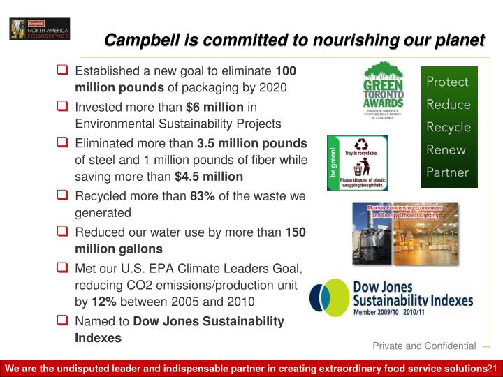 Campbell is committed to nourishing