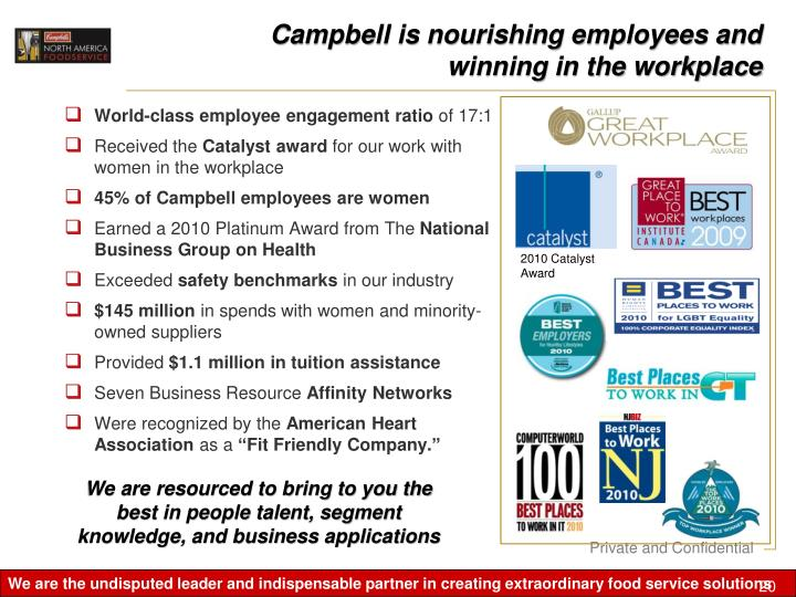 Campbell is nourishing employees and