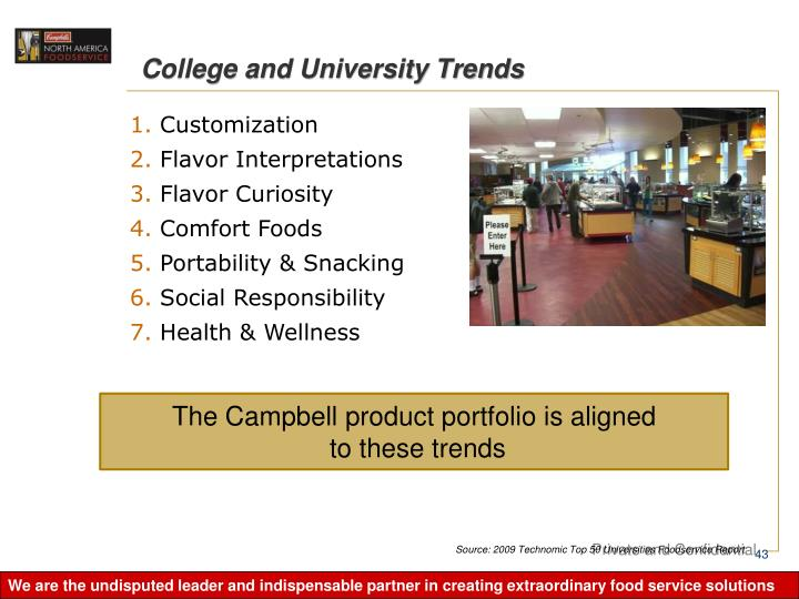 College and University Trends
