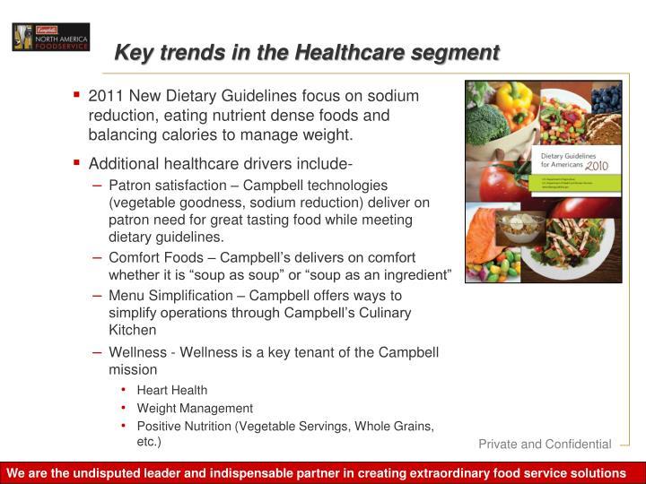 Key trends in the Healthcare segment