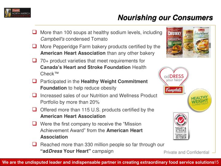 Nourishing our Consumers