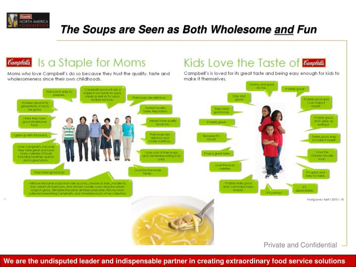 The Soups are Seen as Both Wholesome