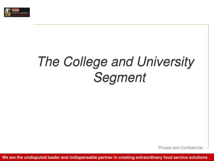 The College and University Segment