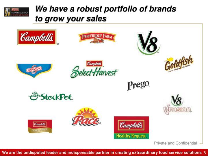 We have a robust portfolio of brands