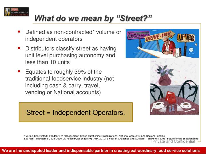 """What do we mean by """"Street?"""""""