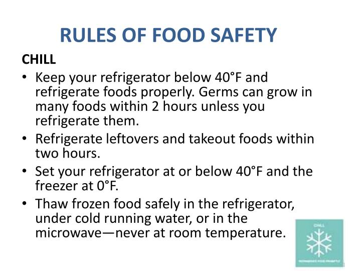RULES OF FOOD SAFETY