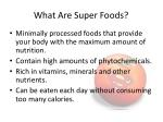 what are super foods