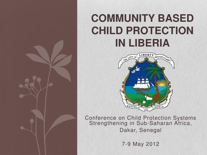 Community based child protection in liberia