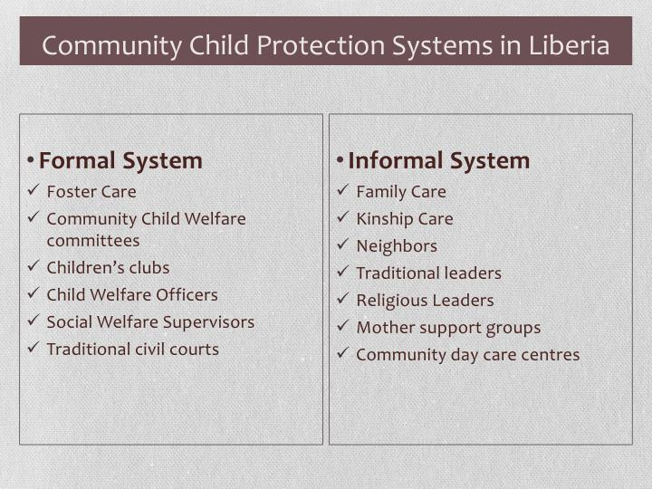 Community Child Protection Systems in Liberia