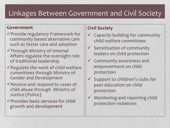 Linkages Between Government and Civil Society