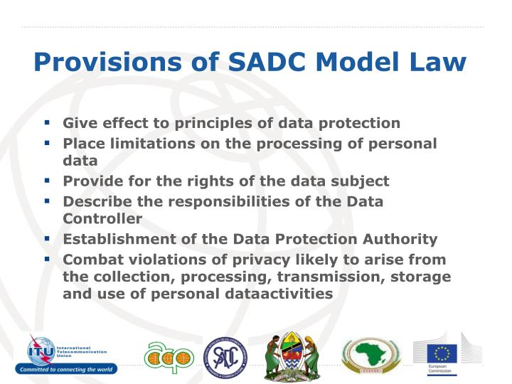 Give effect to principles of data protection