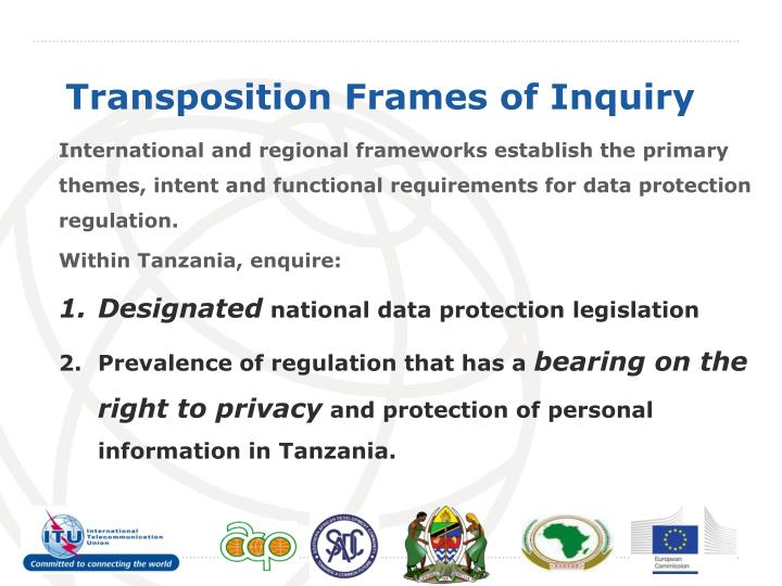 International and regional frameworks establish the primary themes, intent and functional requirements for data protection regulation.