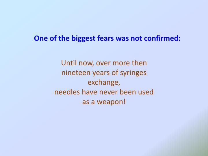 One of the biggest fears was not confirmed:
