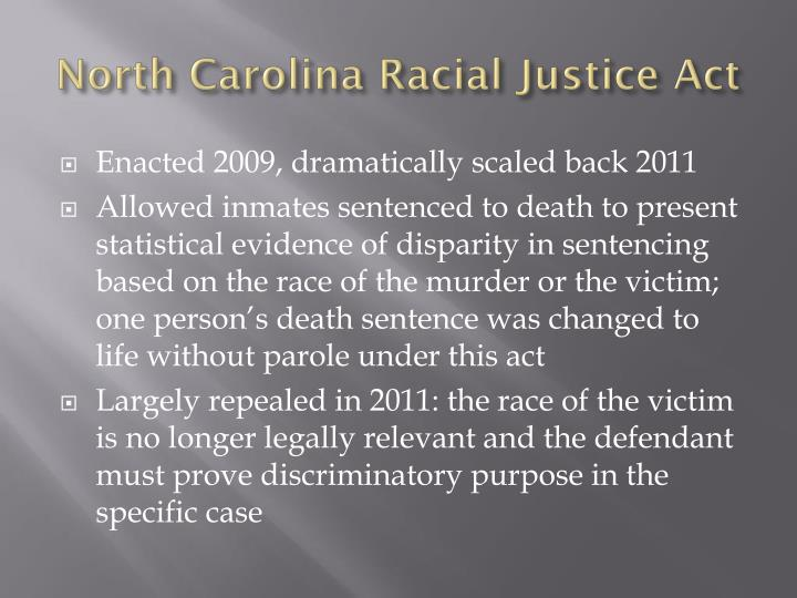 North Carolina Racial Justice Act