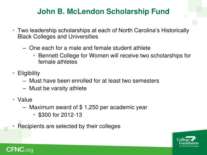 John B. McLendon Scholarship Fund