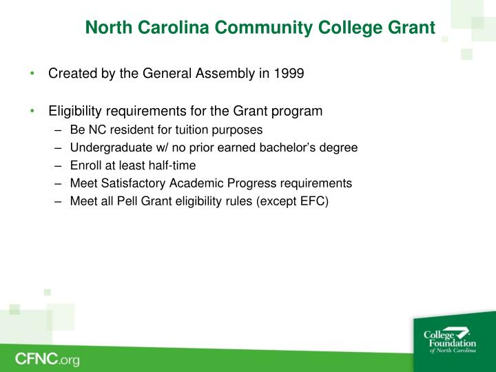 North Carolina Community College Grant