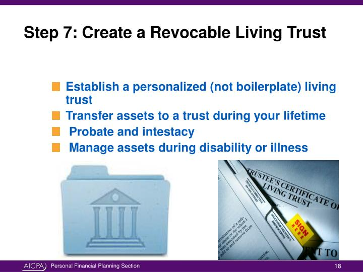 how to create a living trust